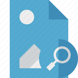 document, file, image, picture, search icon