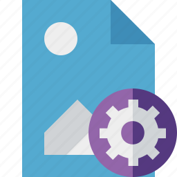 document, file, image, picture, settings icon