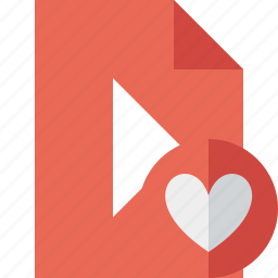 document, favorites, file, movie, play, video icon