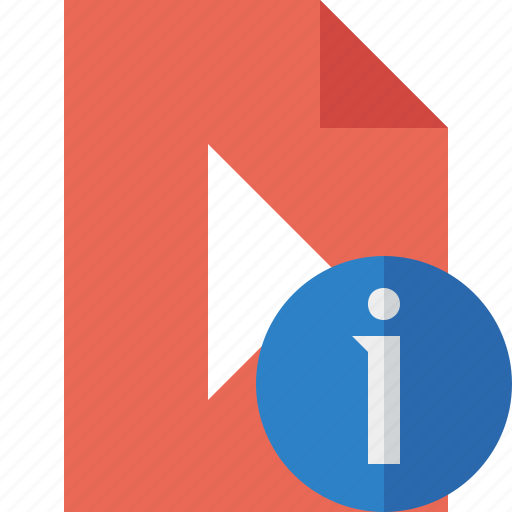 document, file, information, movie, play, video icon