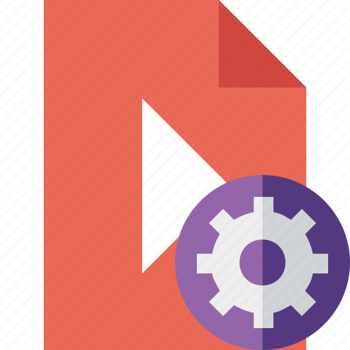 Document, file, movie, play, settings, video icon - Download on Iconfinder