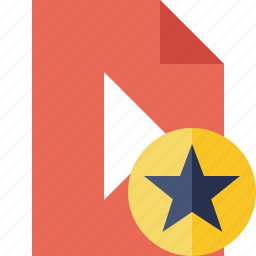 document, file, movie, play, star, video icon