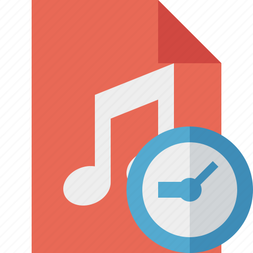 audio, clock, document, file, music icon