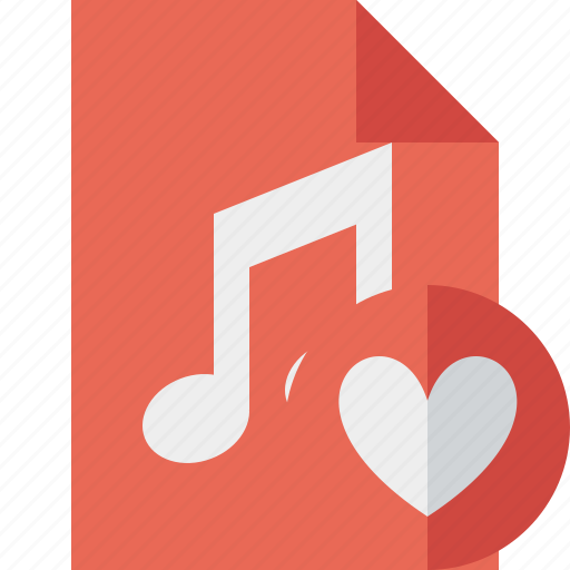 audio, document, favorites, file, music icon