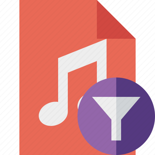 audio, document, file, filter, music icon