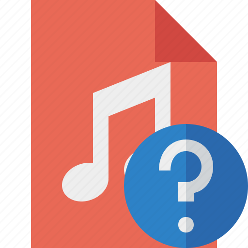 audio, document, file, help, music icon