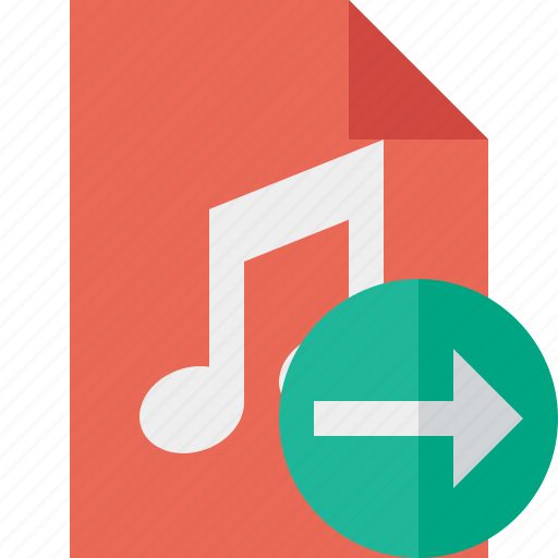 audio, document, file, music, next icon