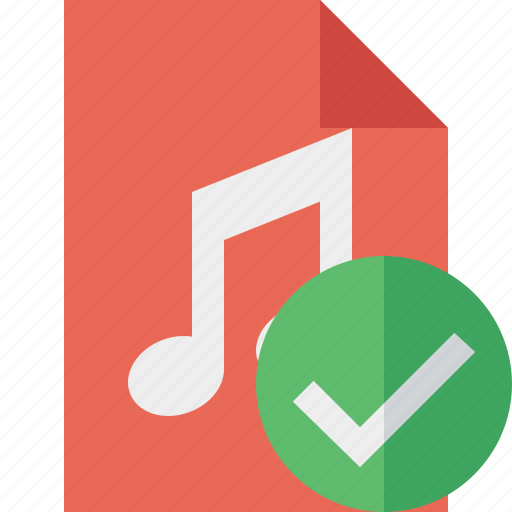 Audio, document, file, music, ok icon - Download on Iconfinder