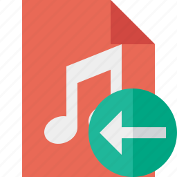 audio, document, file, music, previous icon