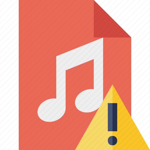 Audio, document, file, music, warning icon - Download on Iconfinder