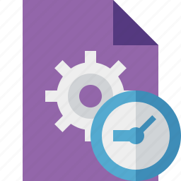 clock, document, file, options, page, settings icon