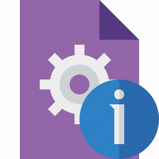document, file, information, options, page, settings icon