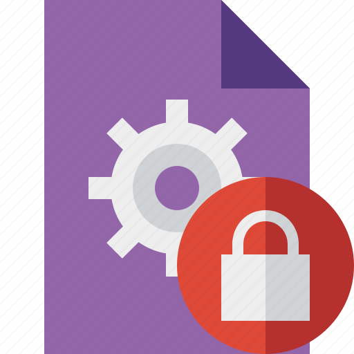document, file, lock, options, page, settings icon