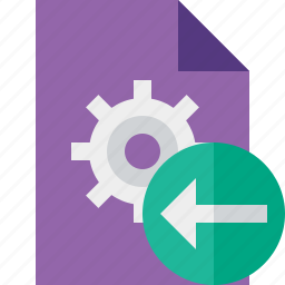 document, file, options, page, previous, settings icon