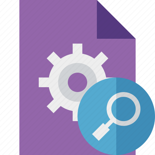 document, file, options, page, search, settings icon