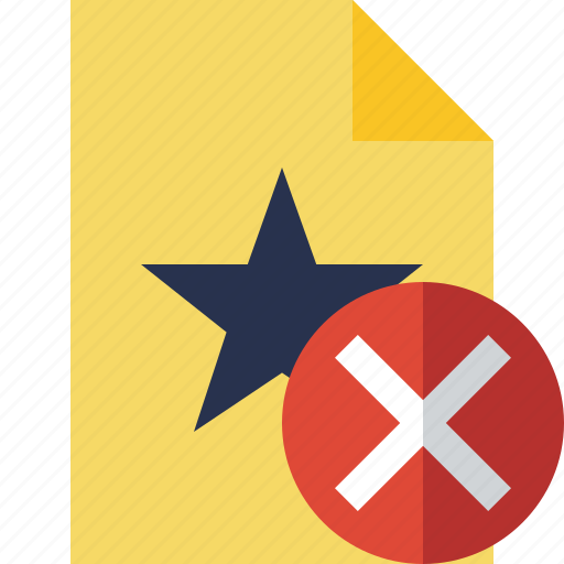 Cancel, document, favorite, file, star icon - Download on Iconfinder