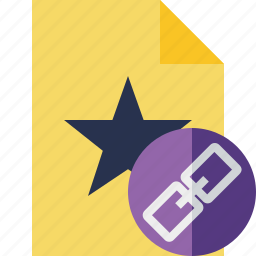 document, favorite, file, link, star icon