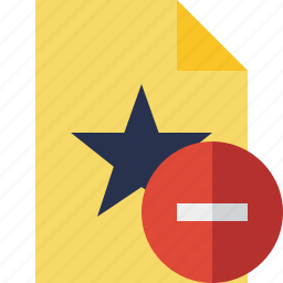 document, favorite, file, star, stop icon