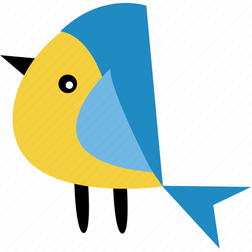 animal, bird, blue yellow, ecosystem, forest, pet, tree icon