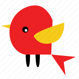 animal, bird, fly, pet, red, wings, yellow icon