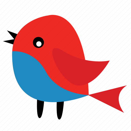 animal, bird, ecosystem, graphics, pet, red blue icon