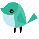 animal, bird, cute, light blue, pet, tosca icon
