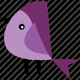 animal, bird, ecosystem, graphics, pet, purple icon