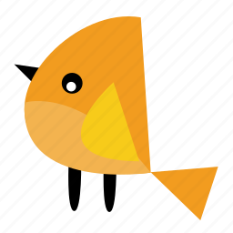 animal, bird, cute, lemon, pet, wings, yellow icon