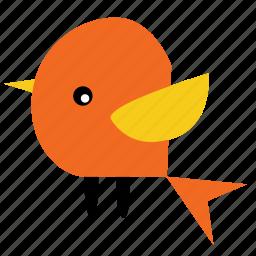 animal, bird, lemon, orange, pet, wings icon