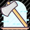 axe, cutting tools, hatchet, tomahawk, woodcutting icon