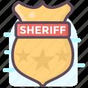 sheriff badge, sheriff emblem, sheriff insignia, sheriff logo, sheriff symbol icon
