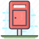 letter hole, letterbox, mail slot, mailbox, postbox icon