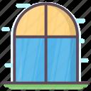 aperture, casement, glass window, opening, window, windowspane icon