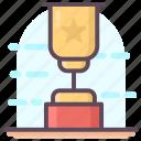 award trophy, champion trophy, star trophy, trophy, winner cup icon