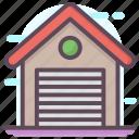depository, repository, stockroom, store, storehouse, storeroom, warehouse icon