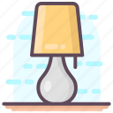desk lamp, lamp, light, study lamp, table lamp icon