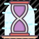 ancient timer, chronometer, hourglass, sand timer, sandglass icon