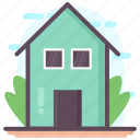 architecture, building, bungalow, dwelling, house icon