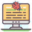 bug tracking, computer bugs, computer virus, debugging, program bugs, software bug icon