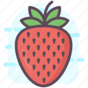 fruit, healthy diet, healthy food, orange with leaf, strawberry icon