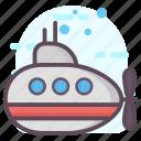 sub boat, submarine, submersible, underwater craft, underwater robot icon