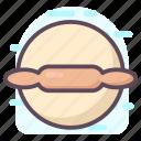 baking, bread dough, kneading dough, pizza dough, rolling dough icon