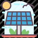 renewable energy, solar electricity, solar energy, solar panel, solar power icon