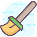 broom, broomstick, cleaning tool, dustpan, sweeping icon