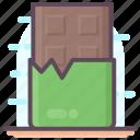 choco, chocolate, chocolate bar, confectionery, dessert icon