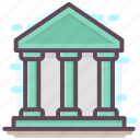 bank, building, depository, financial institution, treasury icon