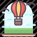 adventure, air balloon, air transport, fire balloon, hot air balloon, parachute balloon icon