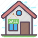 house cost, house for sale, property sale, property value, real estate icon