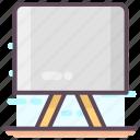 art board, multimedia, presentation screen, projector screen, whiteboard icon