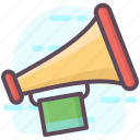 advertising, announcement, bullhorn, digital marketing, loudspeaker, megaphone icon